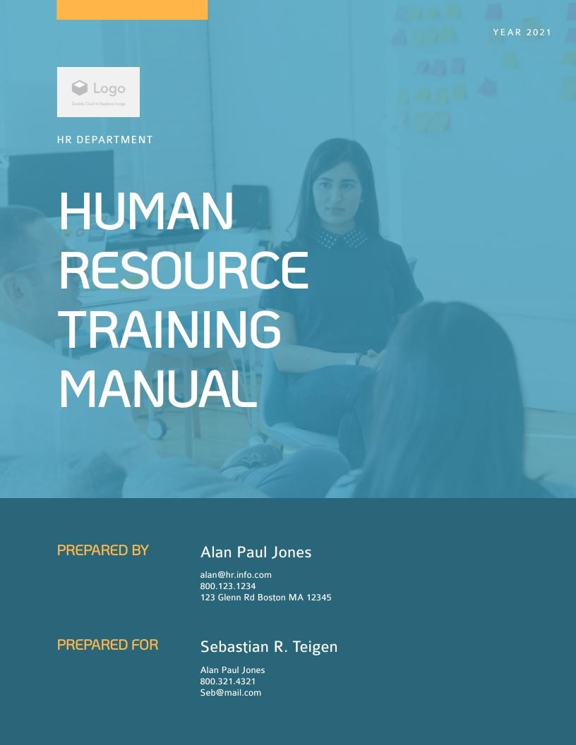 Human Resource - Training Manual Template