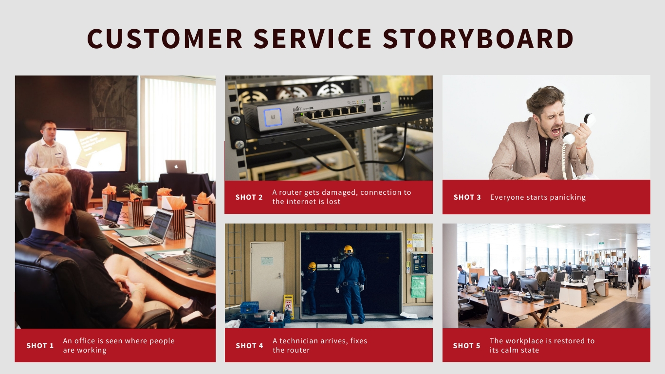ISP Busness Customer Service Storyboard Template
