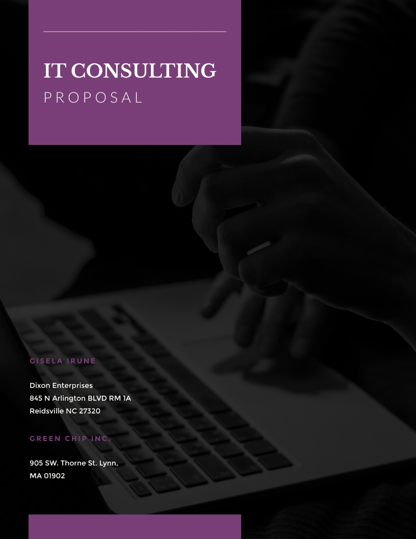 IT Consulting - Proposal Template