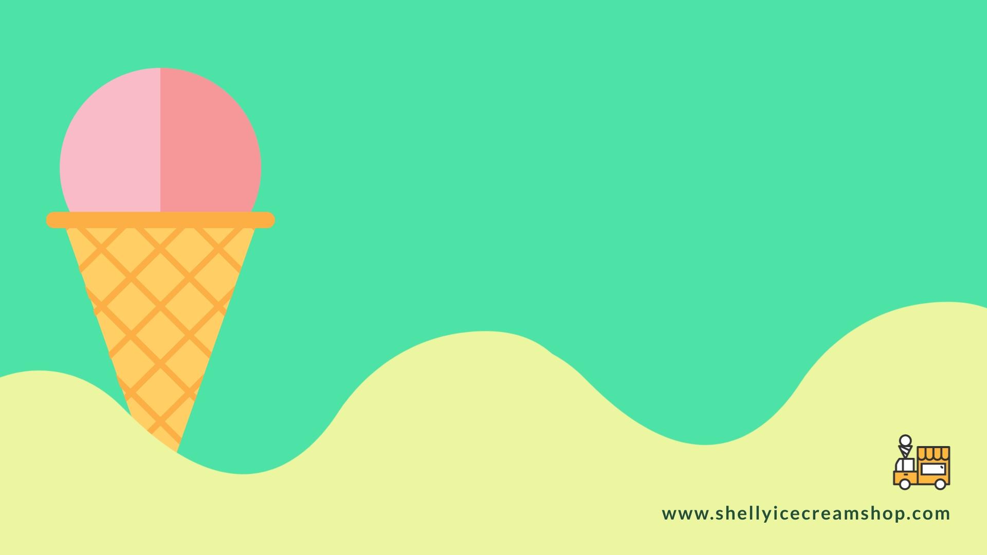 Ice Cream - Zoom Background Template