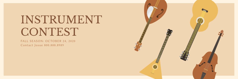 Instrument Contest Twitter Header Template