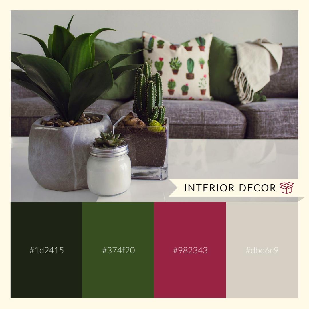 Interior Design Color Palette - Instagram Post Template