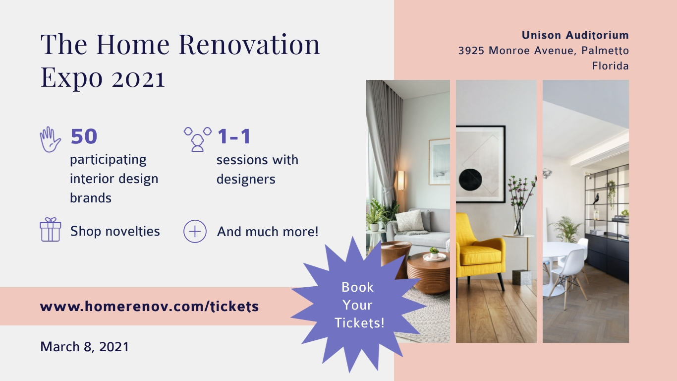 Interior Design Expo - Facebook Event Cover Template