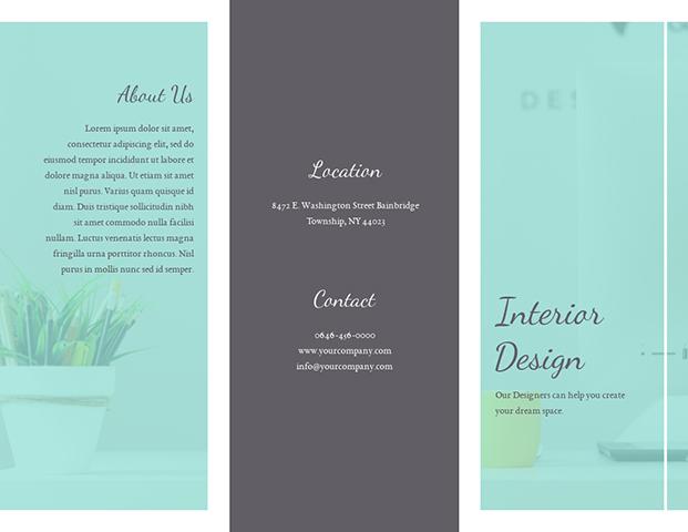 Minimalist Interior Design - Trifold Brochure Template