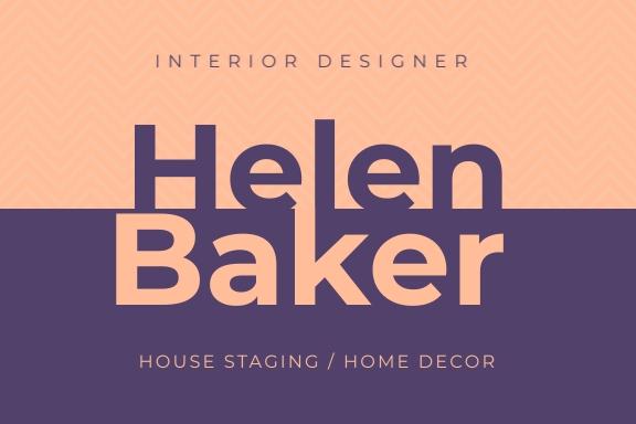 Interior Designer Name Tag Label Template