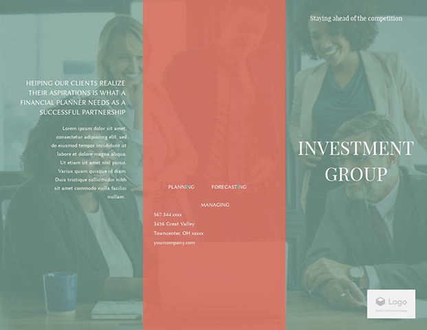 Investment Group - Trifold Brochure  Template