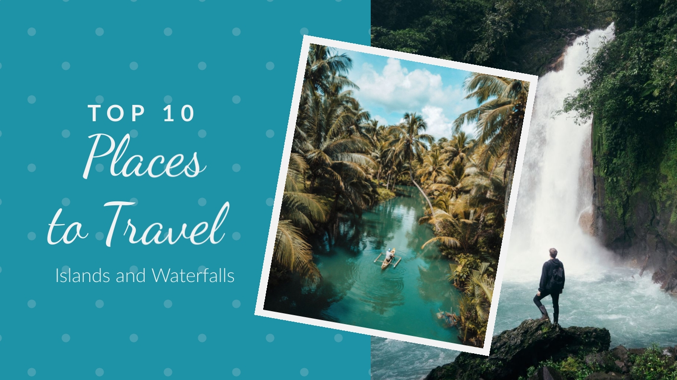 Islands and Waterfall Travel - Twitter Ad Template