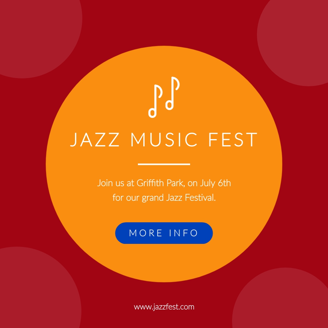Jazz Music Fest Animated Square Template