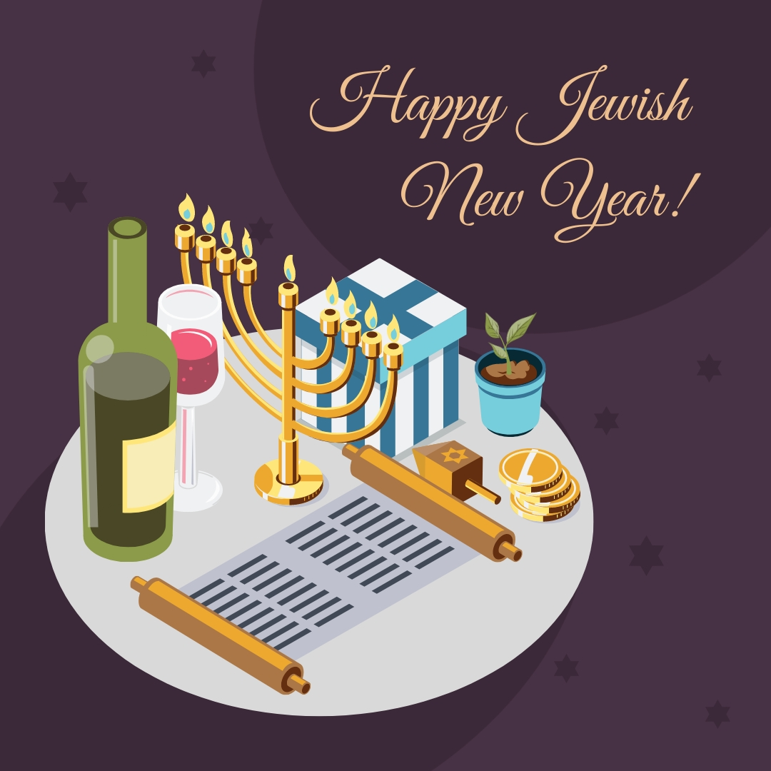 Jewish New Year Animated Square Template