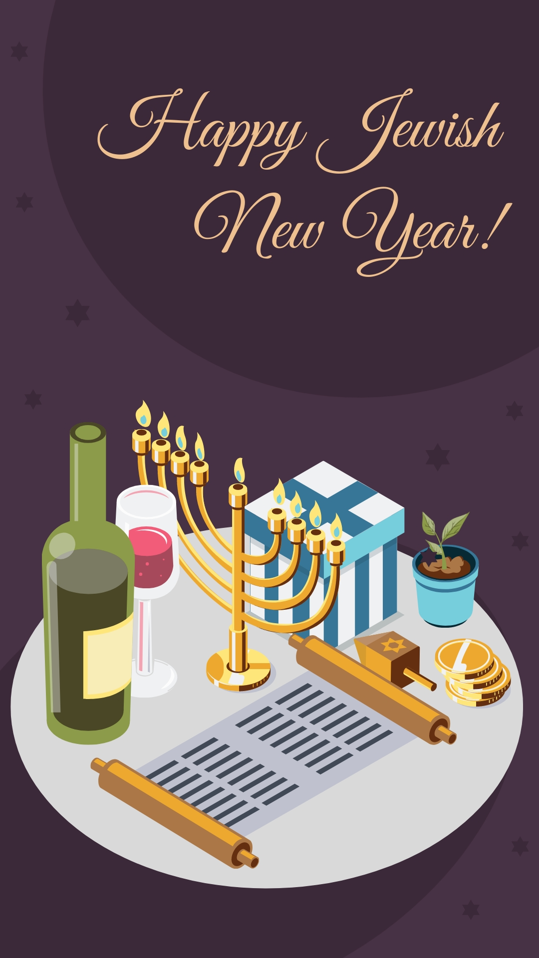 Jewish New Year Animated Vertical Template