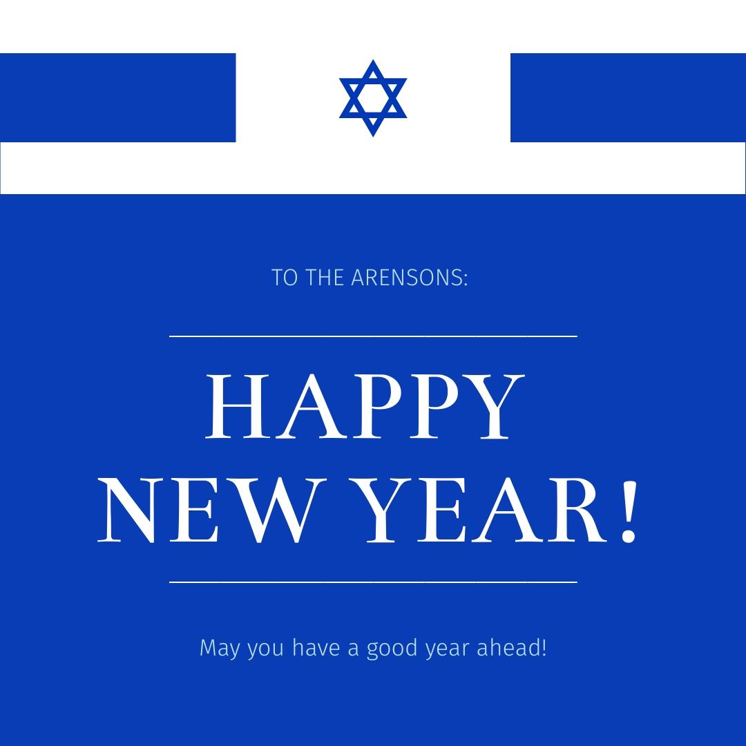 Jewish New Year Wish Animated Square Template