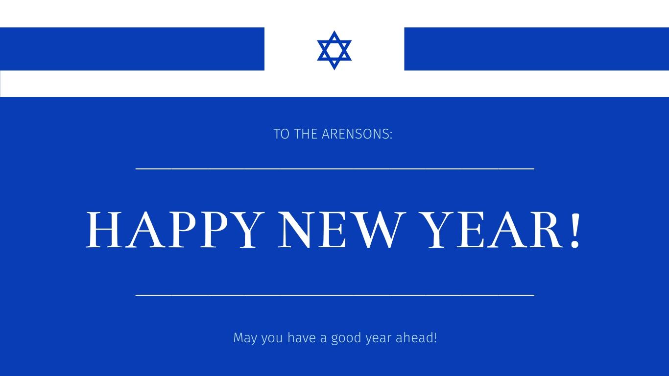 Jewish New Year Wish Animated Wide Template