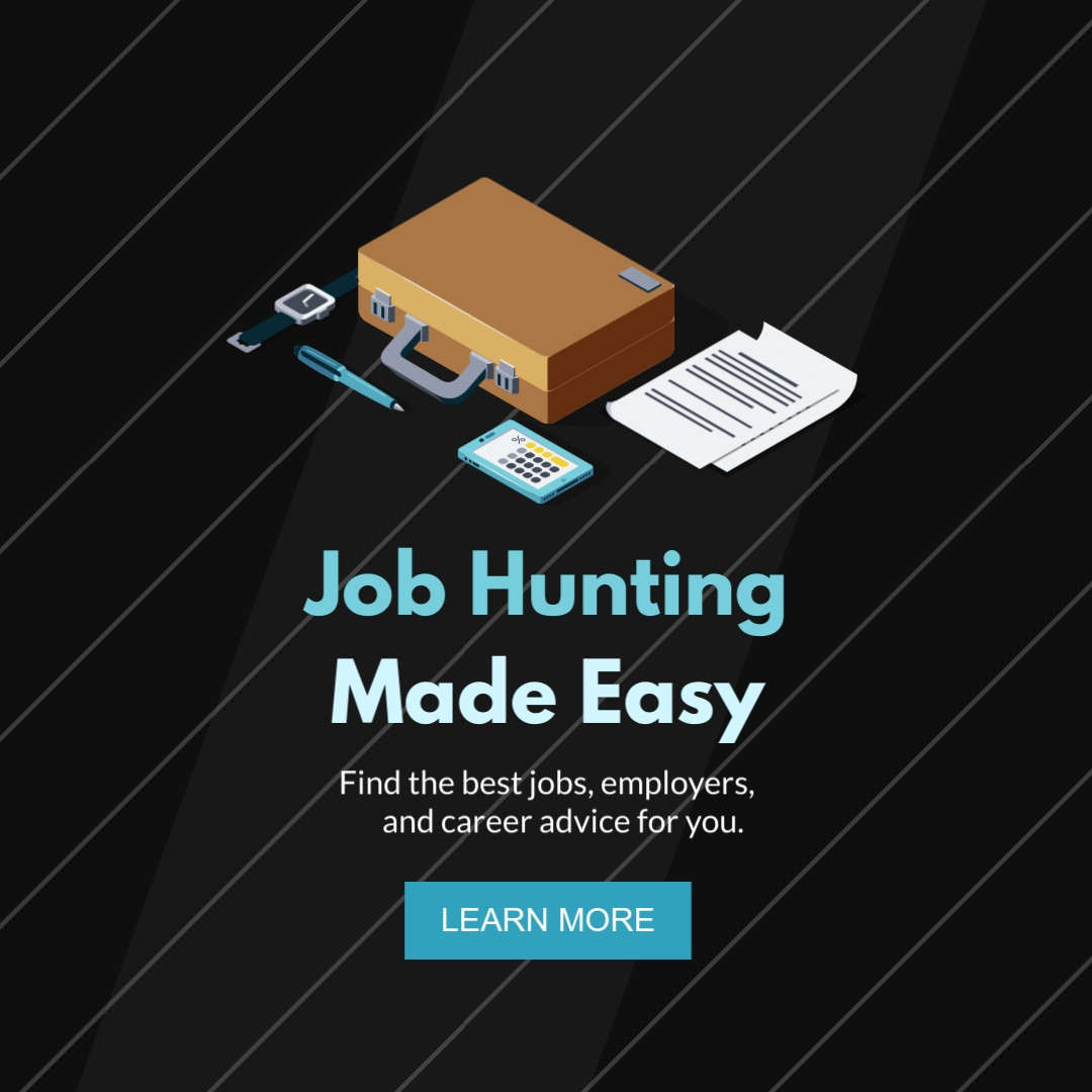 Job Hunting Made Easy Square Template