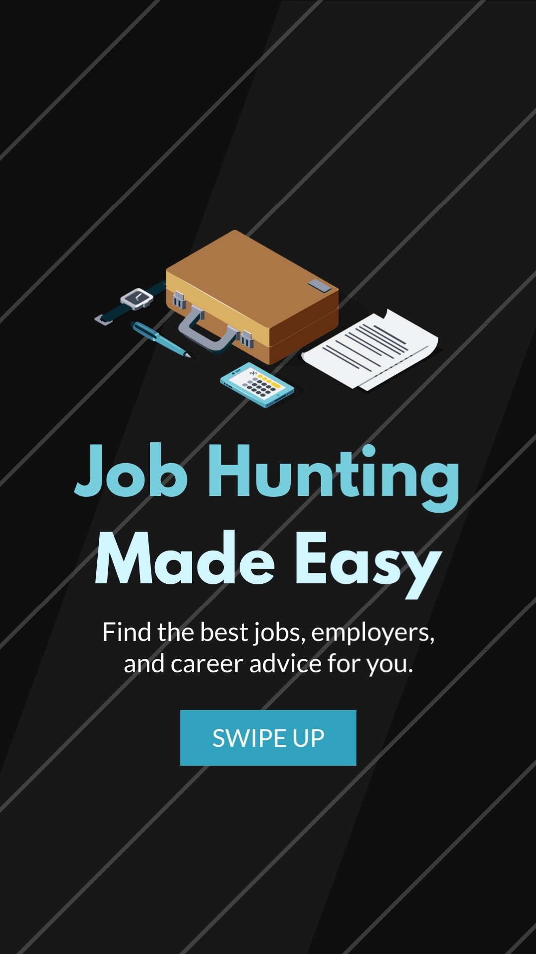 Job Hunting Made Easy Vertical Template