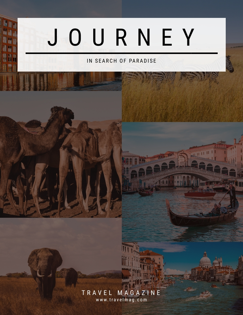 Journey - Magazine Cover Template