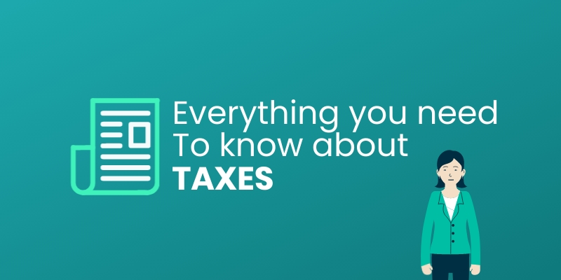 Know About Taxes Blog Graphic Header Template