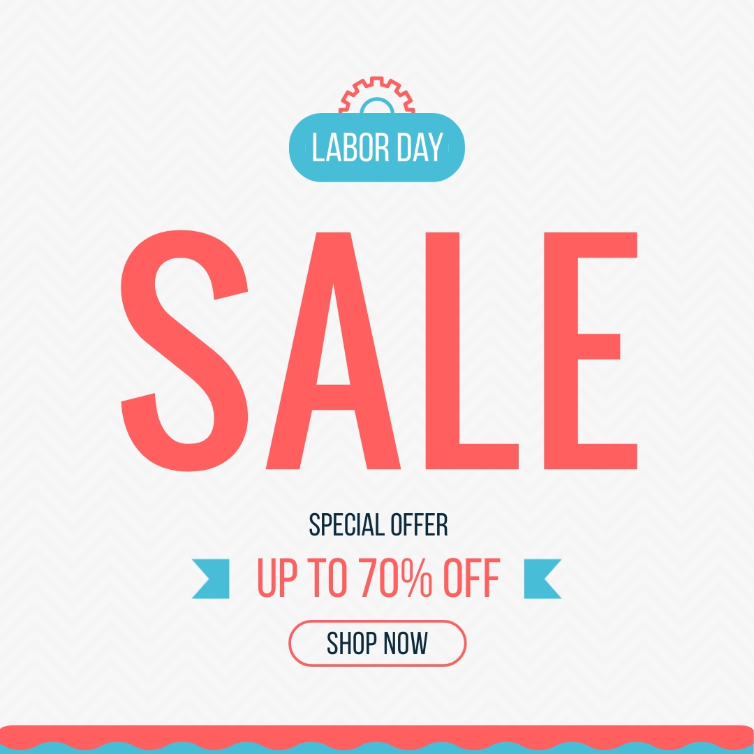 Labor Day Offer Animated Square Template