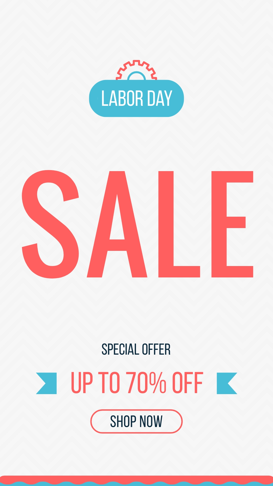 Labor Day Offer Animated Vertical Template