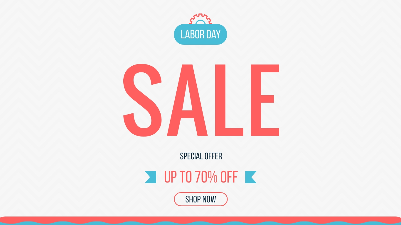 Labor Day Offer Animated Wide Template