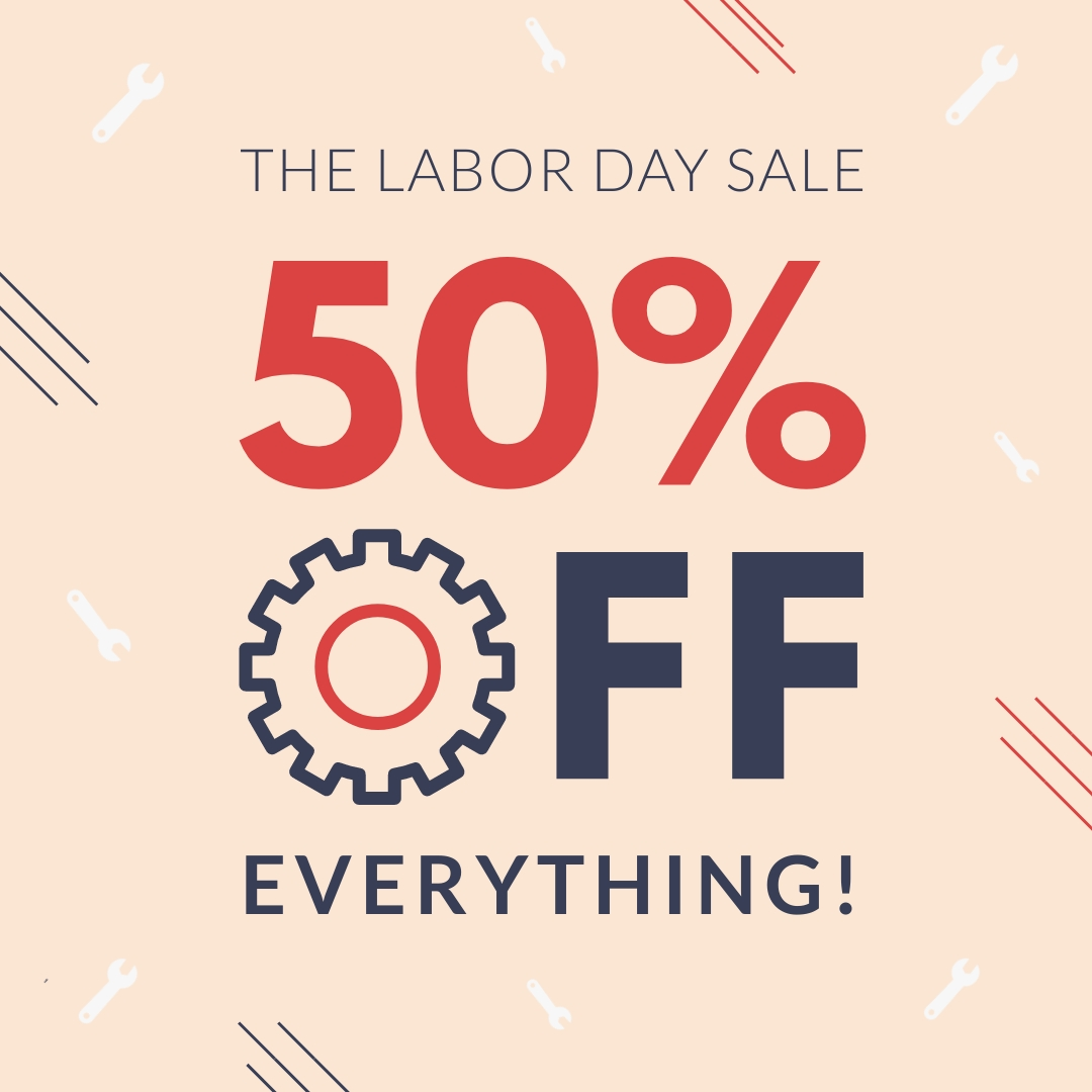 Labor Day Sale Animated Square Template