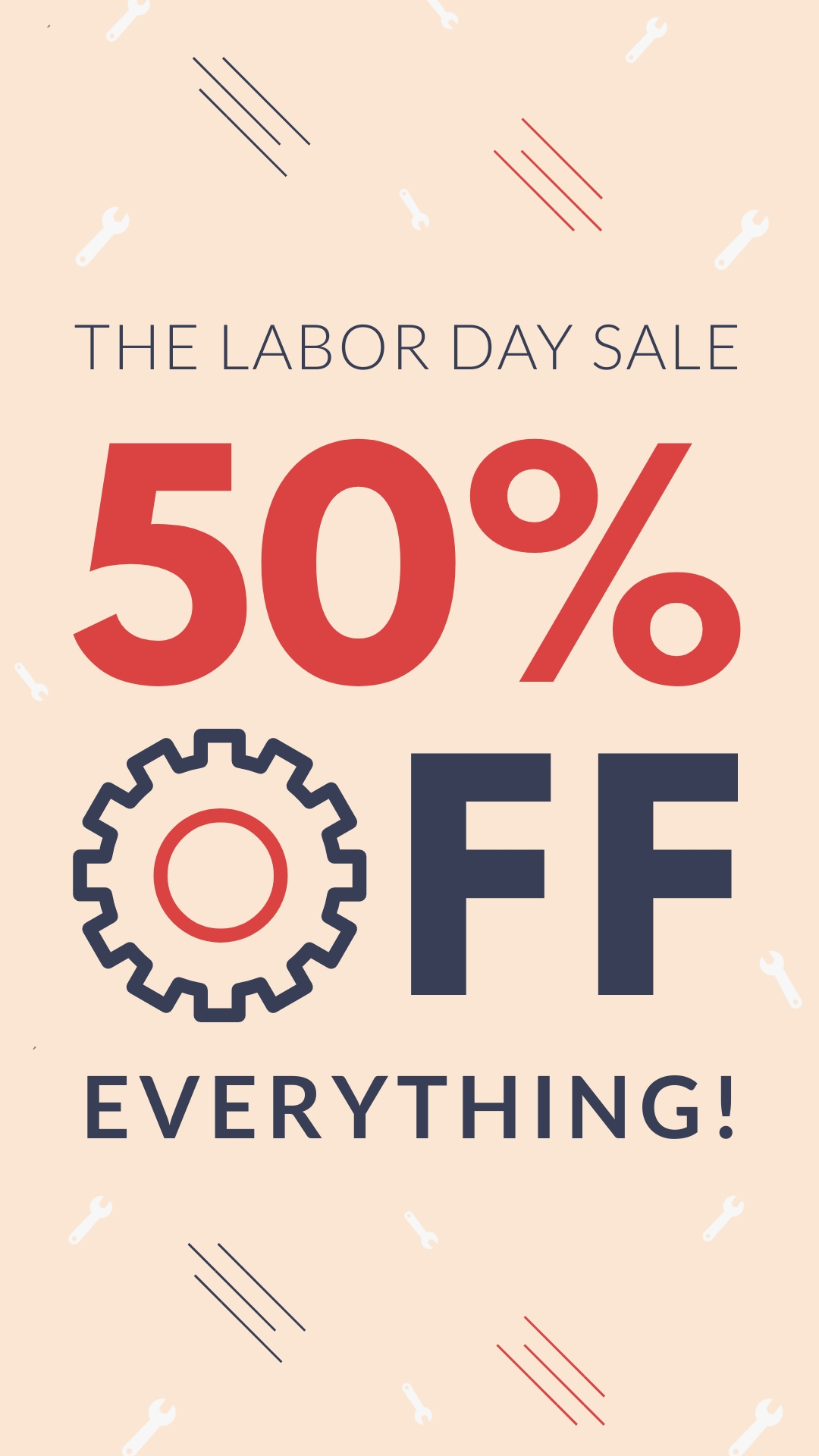 Labor Day Sale Animated Vertical Template