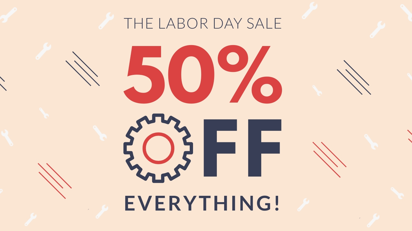 Labor Day Sale Animated Wide Template
