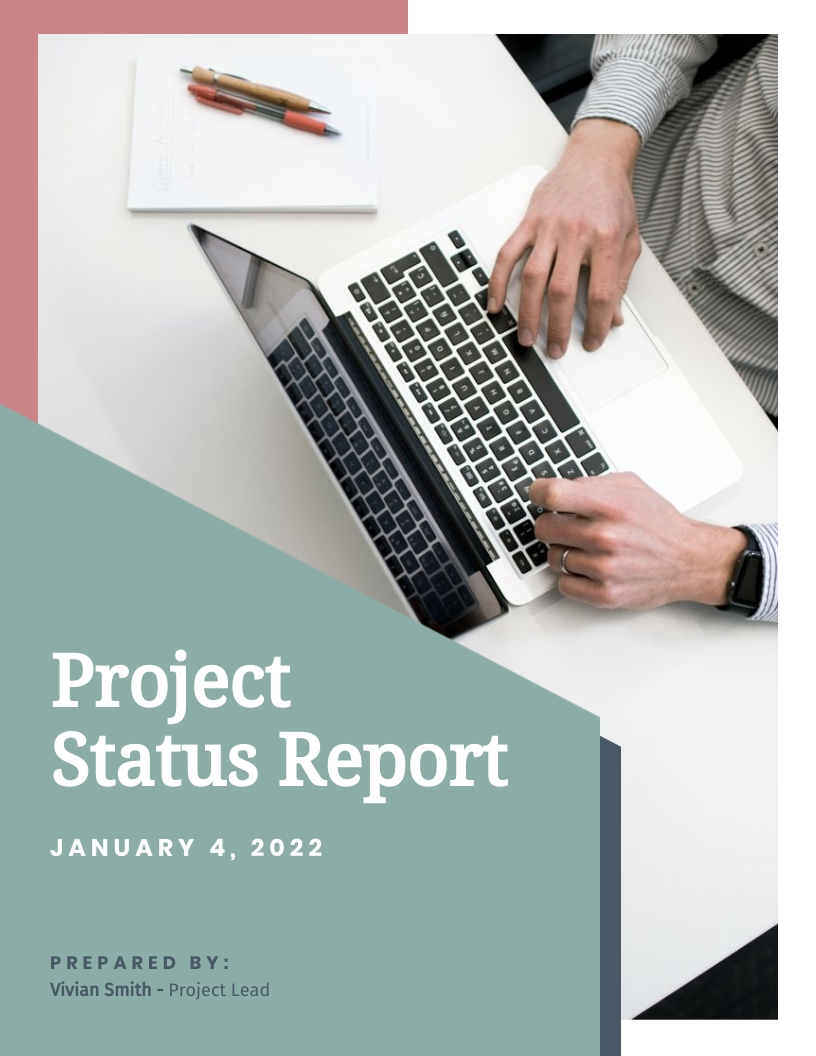 Landing Page Project Status Report Template