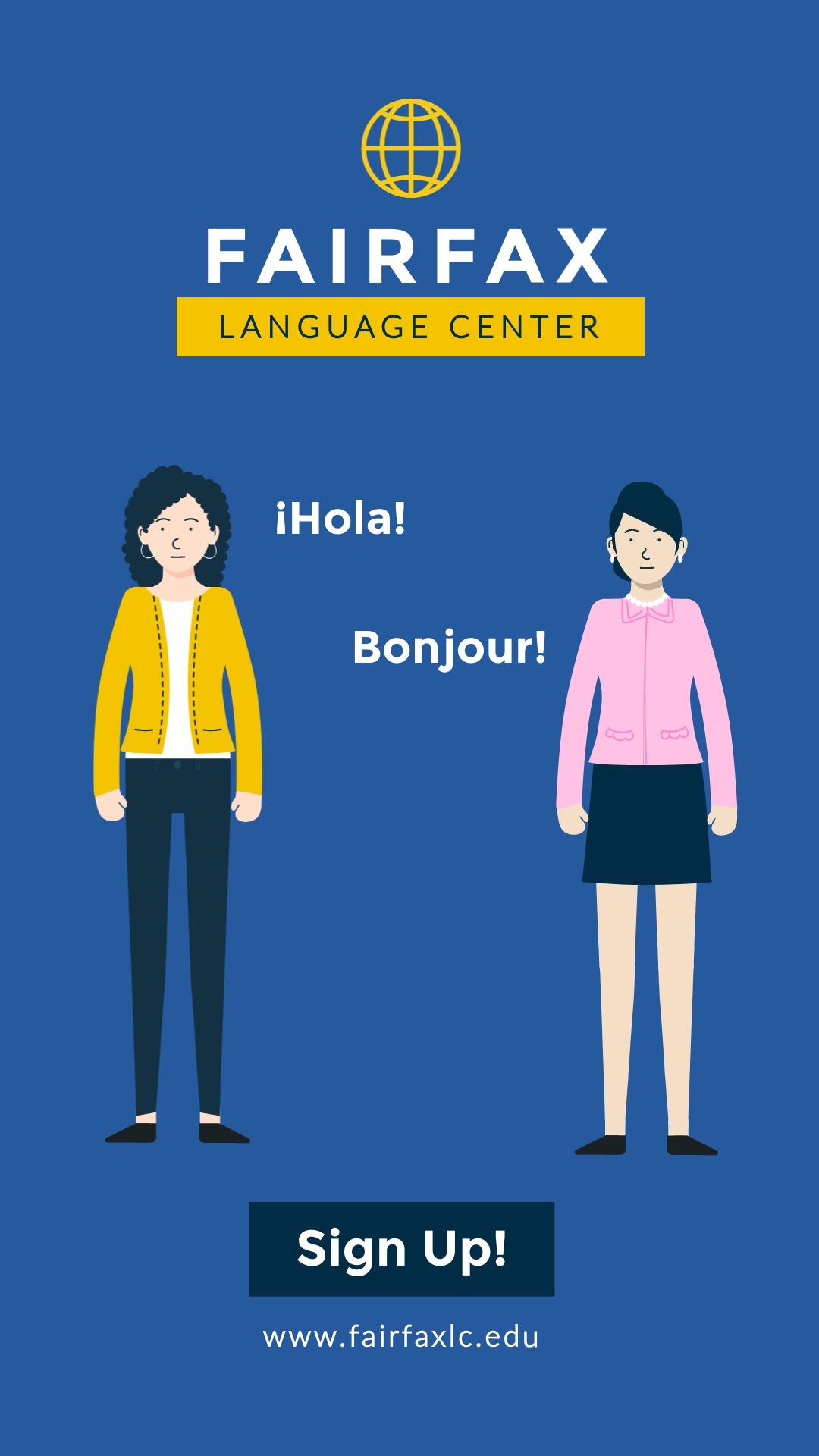 Language Center Vertical Template