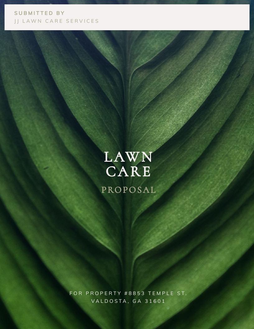 Lawn Care Bid - Proposal Template