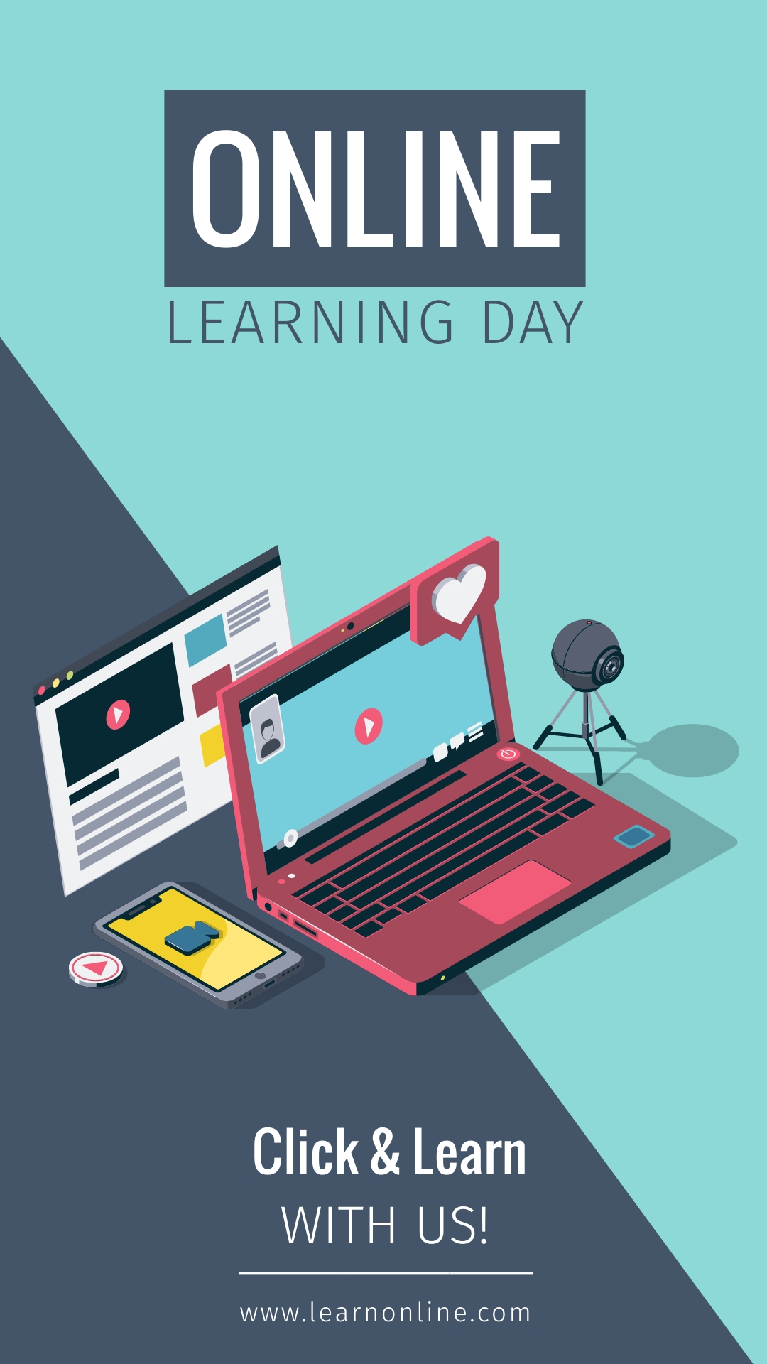 Learning Day Highlight Animated Vertical Template