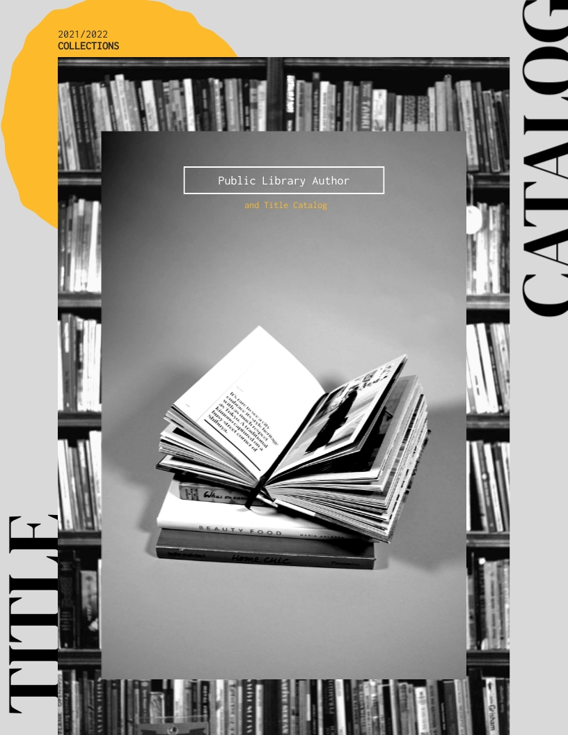 Library Book Catalog Template