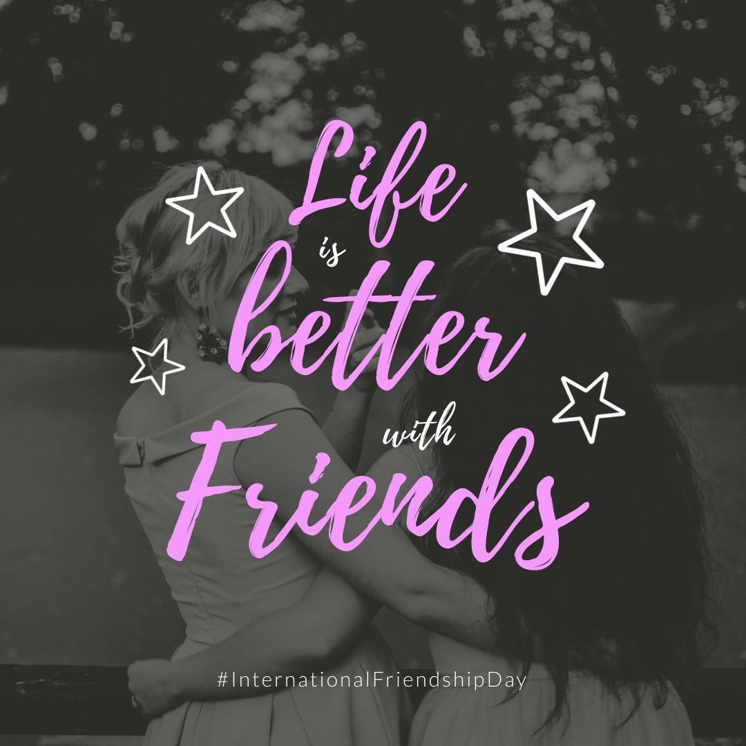 Life is Better with Friends Square Template