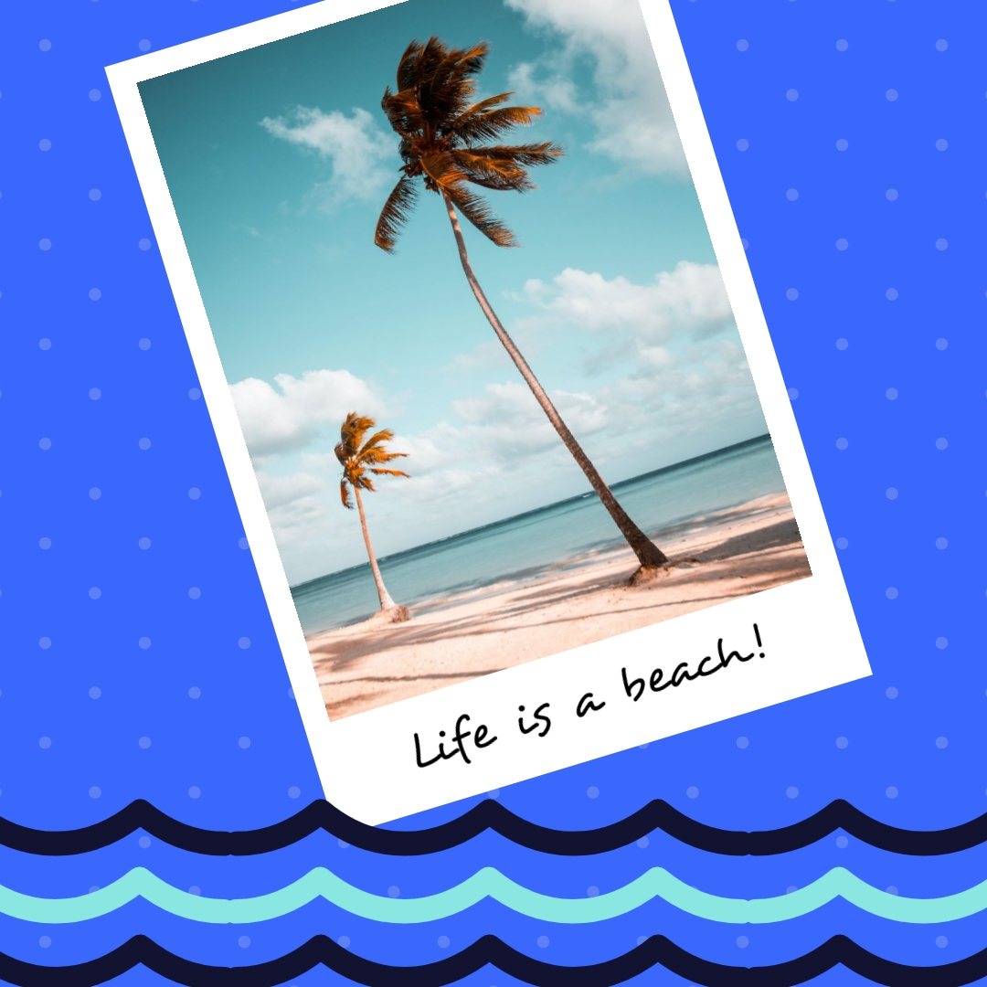 Life is a Beach Summer Square Template
