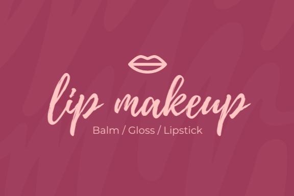 Lip Makeup Storage Label Template