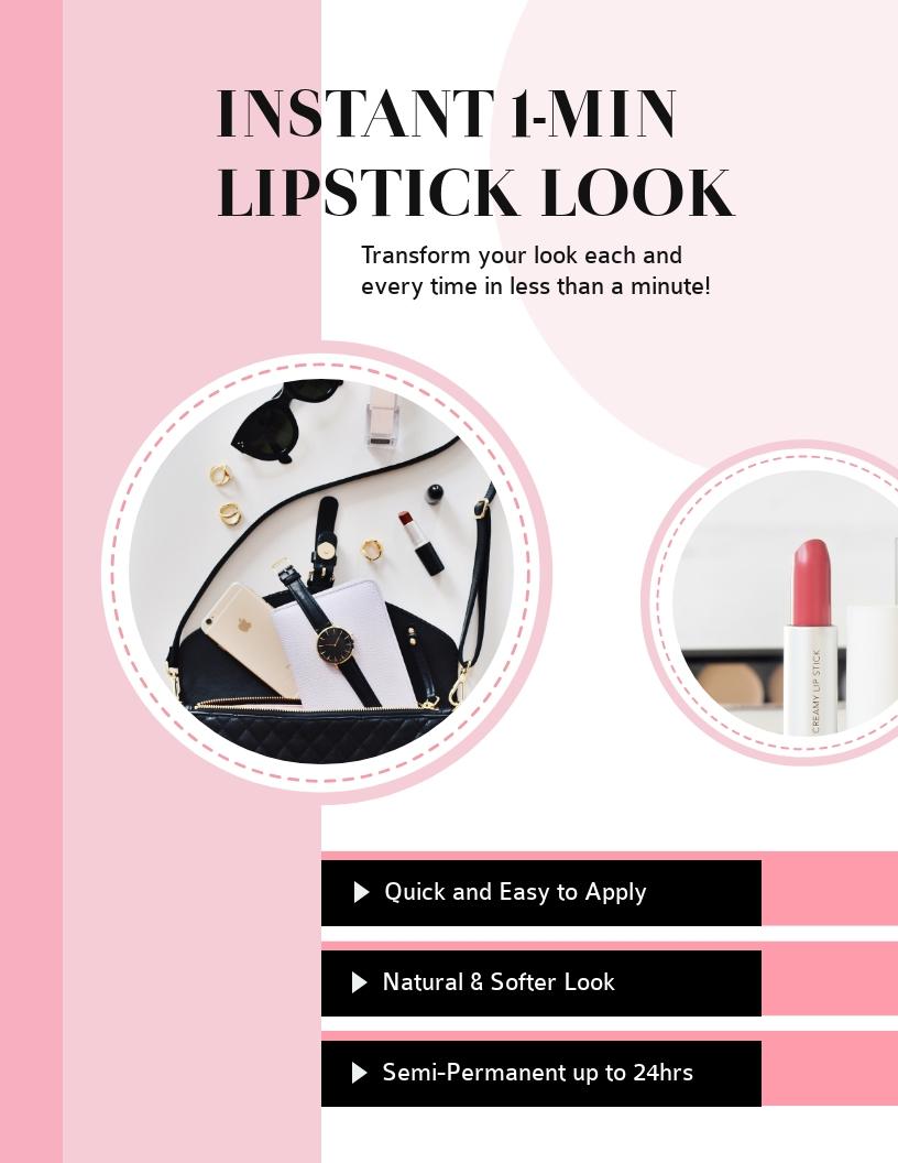 Lipstick Look - Flyer Template