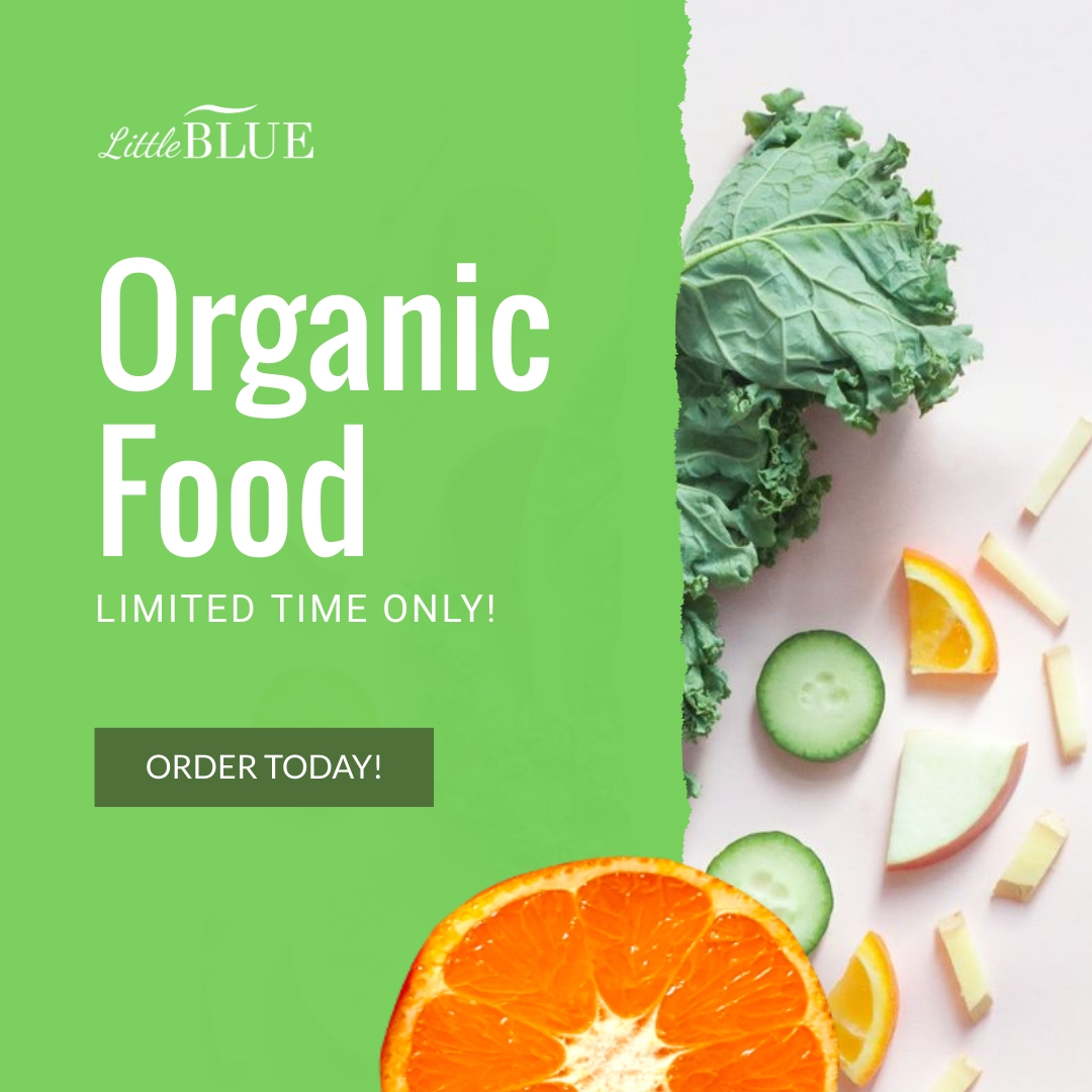 LittleBlue Organic Food Animated Square Template