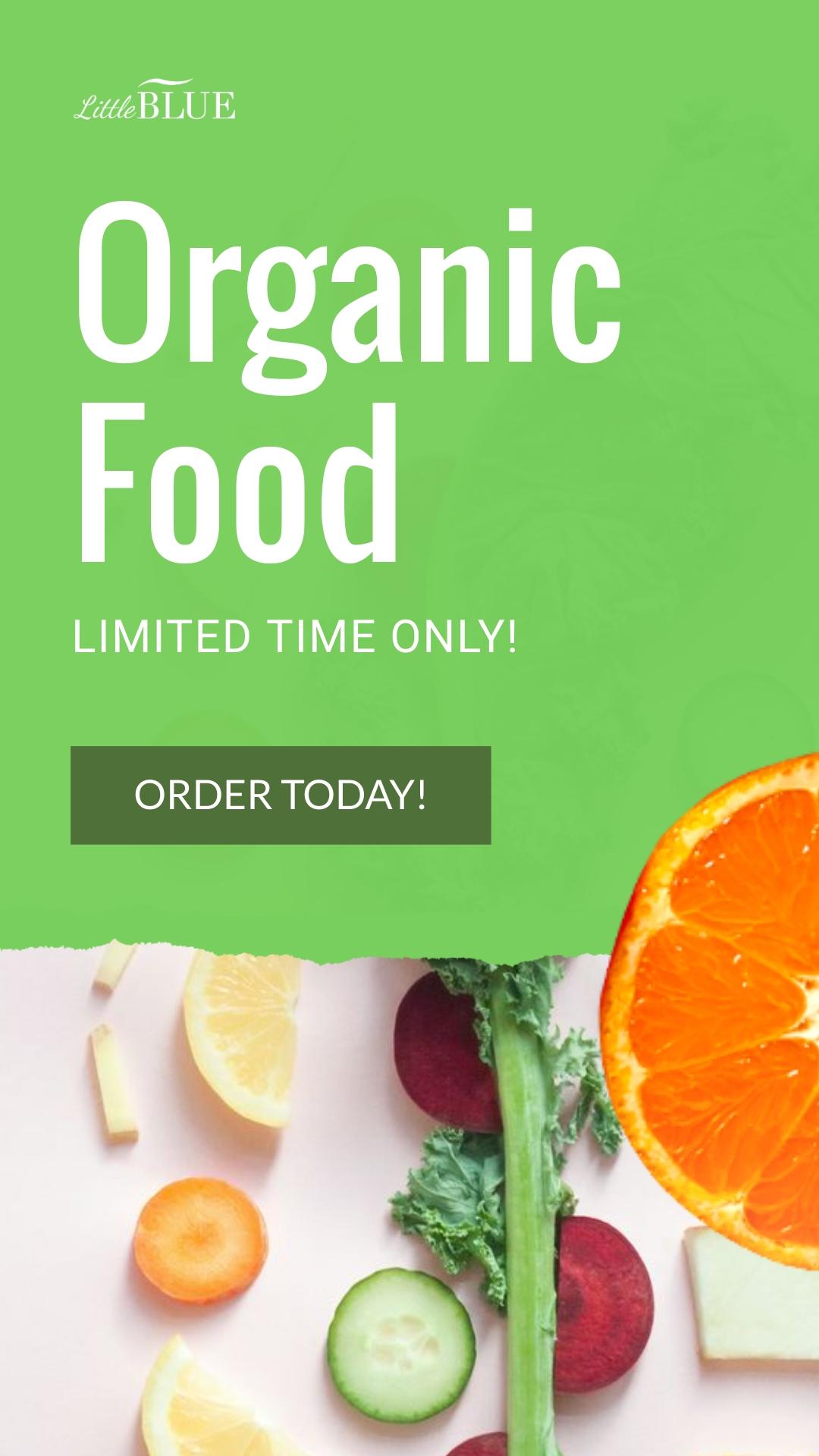 LittleBlue Organic Food Animated Vertical Template