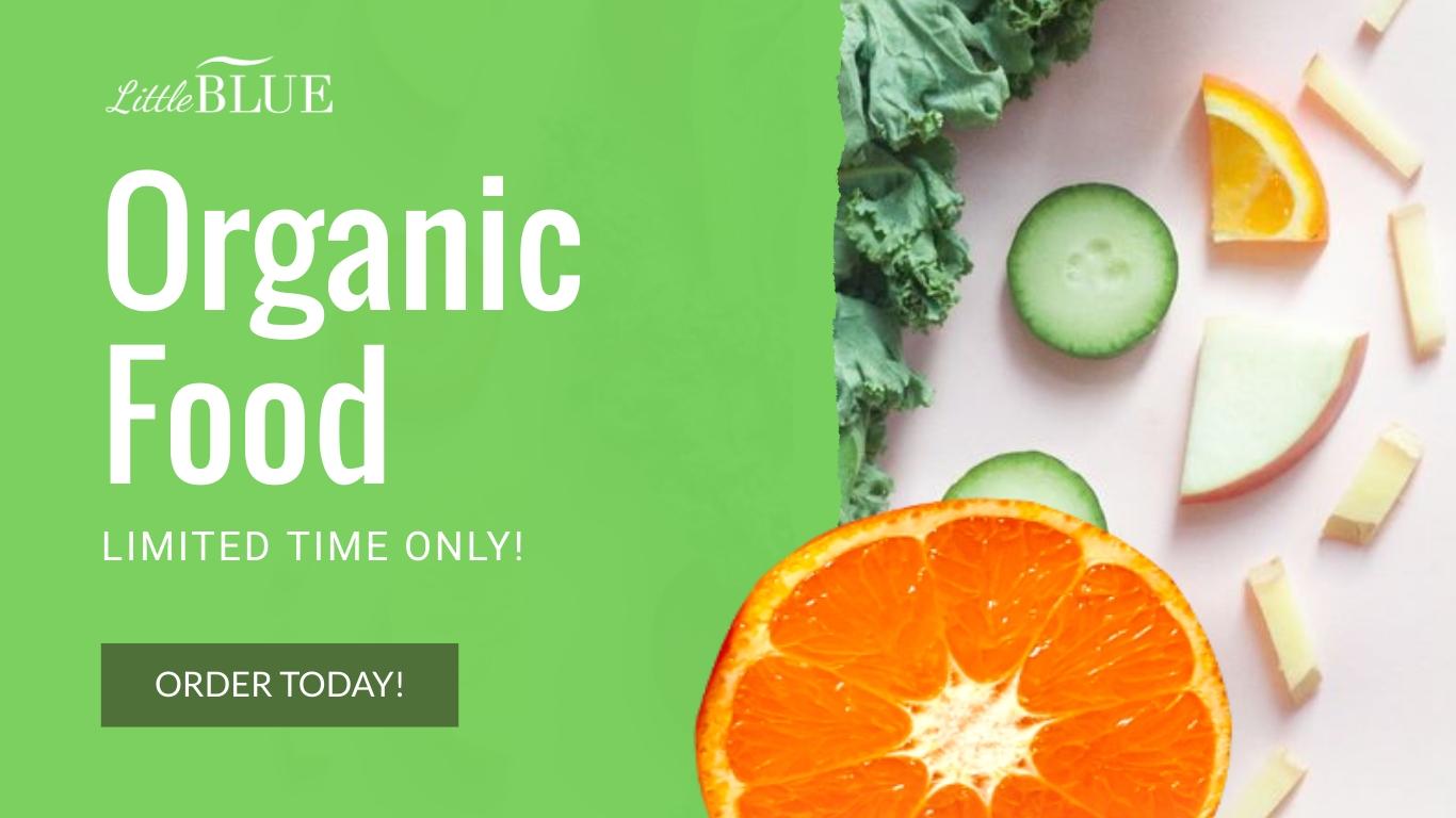 LittleBlue Organic Food Animated Wide Template