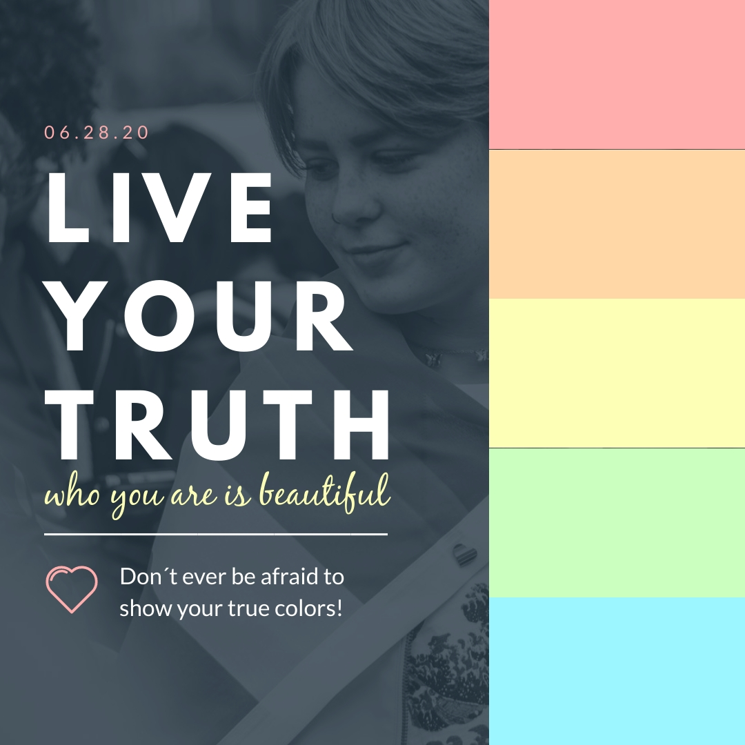 Live Your Truth Pride Animated Square Template