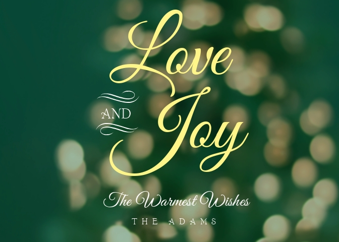 Love and Joy Greeting Card Template