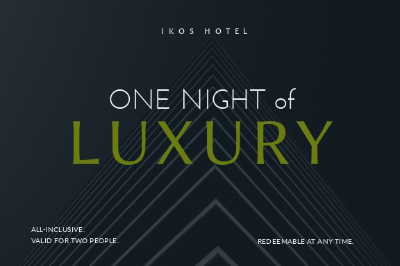 Luxury Hotel - Gift Certificate Template