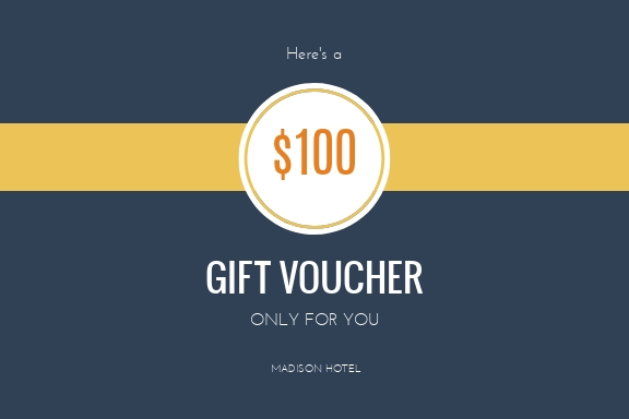 Madison Hotel - Gift Certificate Template