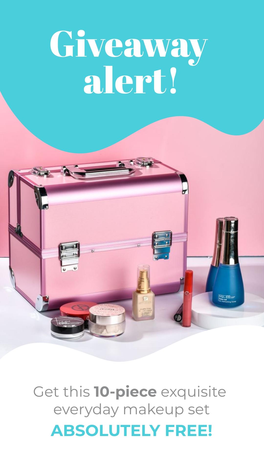 Makeup Giveaway - Instagram Video Ad Template