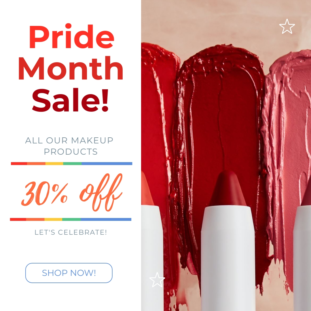 Makeup Sale Pride Month - Instagram Post Template