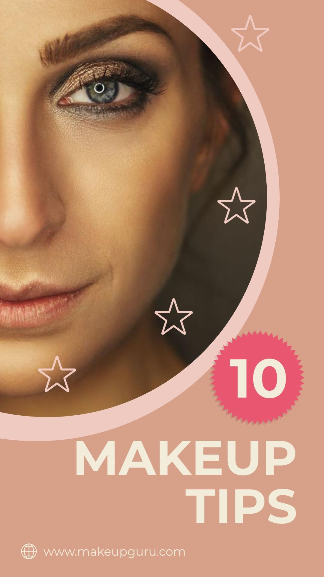Makeup Tips Pinterest Video Pin Template