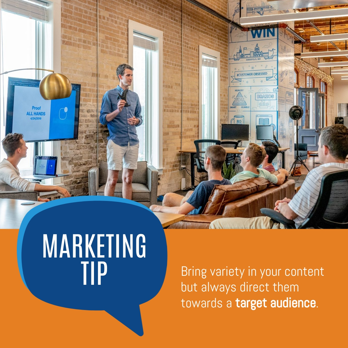 Marketing Tip - LinkedIn Post Template