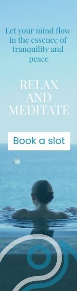 Meditation Wide Skyscraper Template