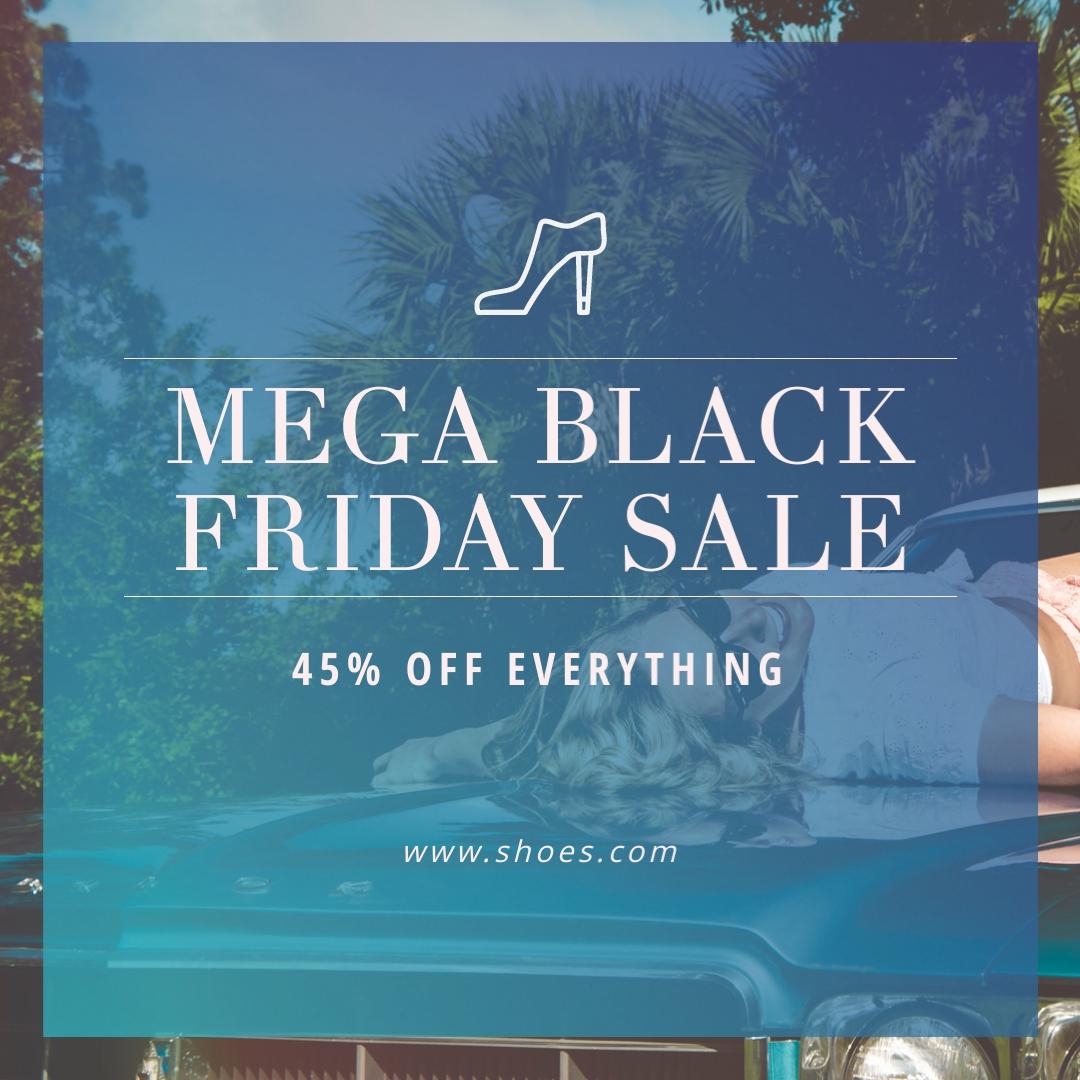 Mega Black Friday Sale Blog Graphic Medium Template