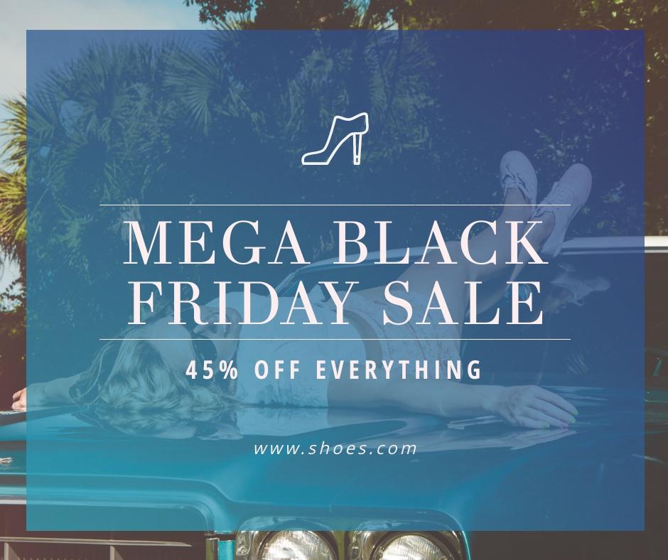 Mega Black Friday Sale Facebook Post Template