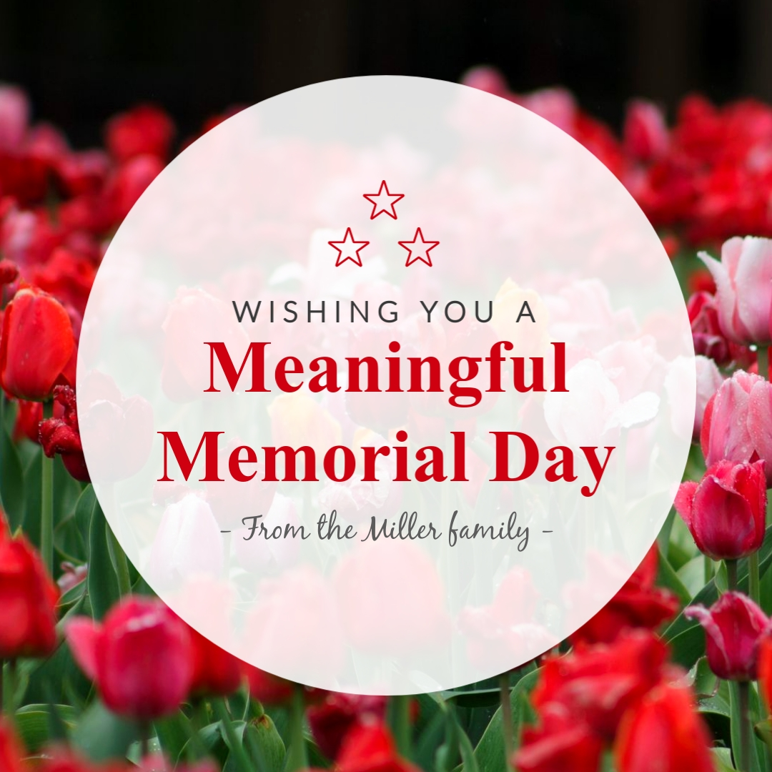 Memorial Day Flowers - Instagram Post Template